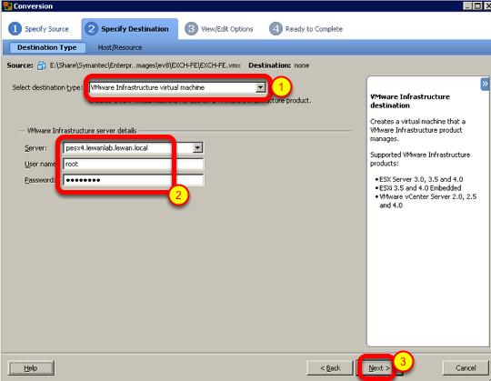 VMware vSphere – Using VMware Converter to Import VM's or