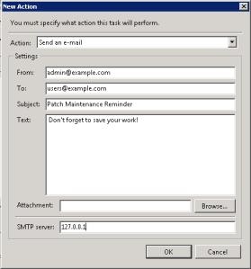 Task Scheduler New Action